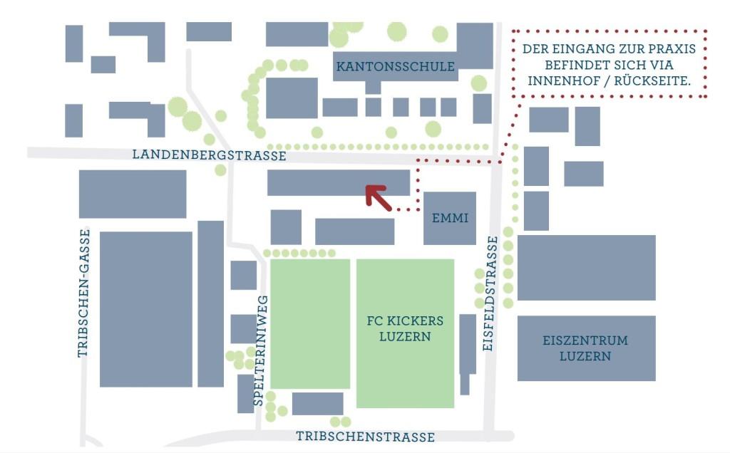 Praxis Luzern für manuelle Therapien & Massagen Wegbeschreibung